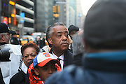 20 February 2009 NY, NY - Rev. Al Sharpton at Day 2 of New York Post Protest by Rev. Al Sharpton and The National Network against offensive cartoon depicting dead Chimpanzee as President Obama.