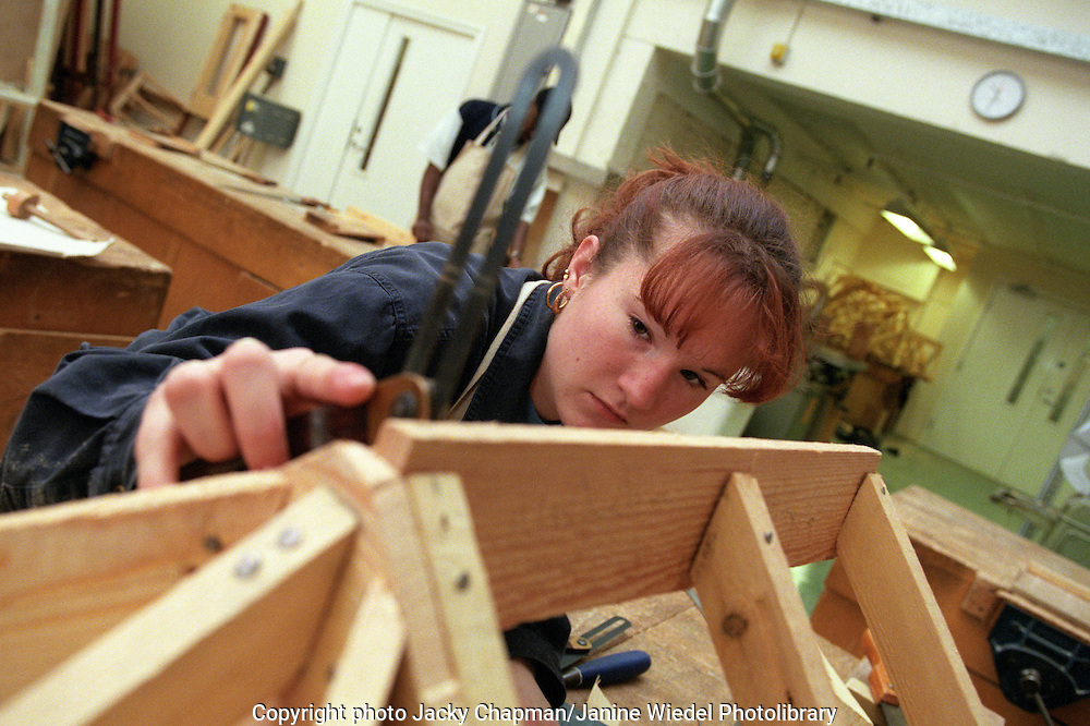 Woodwork course at Lambeth College, London