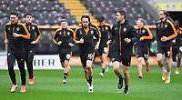 Hull City's George Honeyman leads the players out to warm up<br /> <br /> Photographer Dave Howarth/CameraSport<br /> <br /> The EFL Sky Bet League One - Hull City v Burton Albion - Saturday 14th November 2020 - KCOM Stadium - Kingston upon Hull<br /> <br /> World Copyright © 2020 CameraSport. All rights reserved. 43 Linden Ave. Countesthorpe. Leicester. England. LE8 5PG - Tel: +44 (0) 116 277 4147 - admin@camerasport.com - www.camerasport.com