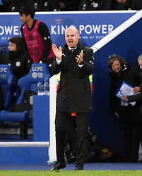 Burnley manager Sean Dyche gestures on the touchline during the Premier League match at the King Power Stadium, Leicester.