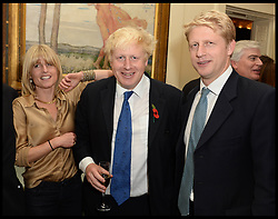 Oct. 22, 2014 - London, England, United Kingdom - 22/10/2014. London, United Kingdom. L to R Rachel, Boris and Jo Johnson at Boris's book launch - The Churchill Factor at The English Speaking Union, Dartmouth House, London..  (Credit Image: © Andrew Parsons/i-Images/ZUMA Wire)