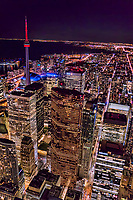 Toronto - Financial District featuring Adelaide Street (lower right)