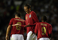 Photo: Daniel Hambury.<br />England v Greece. International Friendly. 16/08/2006.<br />England's Peter Crouch celebrates his second goal. 4-0.