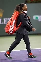 March 08, 2018: Serena Williams (USA) defeated Zarina Diyas (KAZ) 7-5, 6-3 at the BNP Paribas Open played at the Indian Wells Tennis Garden in Indian Wells, California. ©Mal Taam/TennisClix/CSM/Sipa USA(Credit Image: © Mal Taam/CSM/Sipa USA)