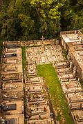 Cemetery at the Church of the Holy Spirit, Sipan Island, Dalmatian Coast, Croatia