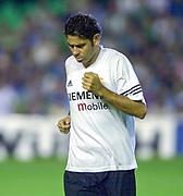 Photo Peter Spurrier<br /> 14/09/2002<br /> 2002 Real Betis vs Real Madrid  - Spanish Liga 1<br /> Real Madrid  Captain, Centre Back, Fernando Ruiz HIERRO,
