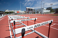 FAYETTEVILLE, AR - April 11:  John McDonnell Field, outdoor home of the Arkansas Razorback track and field team on the campus of the University of Arkansas on April 11, 2007 in Fayetteville, Arkansas.   (Photo by Wesley Hitt/Getty Images) *** Local Caption ***