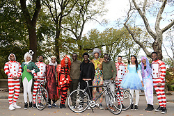 Some of the cast members of the Pirelli 2018 Calendar pose in Central Park before the start of The Pirelli 2018 Calendar by Tim Walker Launch Press Conference at the Pierre Hotel in New York, NY, on November 10, 2017. (Photo by Anthony Behar/Sipa USA)