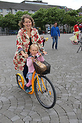 Doris Affeadt with her grand daughter Miya at the opening of the Galway Bike Festival on Saturday. Photo:-XPOURE.IE / NO FEE