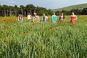 Impromptu portrait in poppy fields in Turkey.
