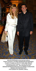 MR NICK BARHAM he was married to Kerry Packer's daughter and MISS MAGDALENA FRUSZEWSKA, at a ball in London on 22nd November 2003.POU 291