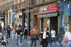 May 25, 2019 - Lyon - La vie a repris son court devant la brioche doree lieu de l'attentat de la veille (Credit Image: © Panoramic via ZUMA Press)
