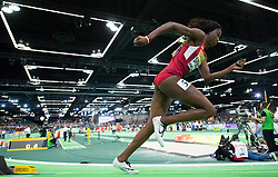 Ashley Spencer of the United States competes in the Women's 400 Metres Semi-Final during day two of the IAAF World Indoor Championships at Oregon Convention Center in Portland, Oregon, the United States, on March 18, 2016. EXPA Pictures © 2016, PhotoCredit: EXPA/ Photoshot/ Yang Lei from Chongqing<br /> <br /> *****ATTENTION - for AUT, SLO, CRO, SRB, BIH, MAZ, SUI only*****