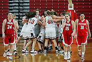Archbishop Murphy celebrates after defeating Prosser 50-35 during a semifinal match of the 2A Girls State Basketball Championships at the Sundome in Yakima on March 13, 2009.