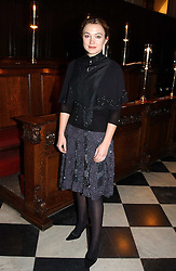 Actress SOPHIA MYLES at a carol concert in aid of the Institute of Cancer Research at the Royal Hospital Chapel, Chelsea on 2nd December 2004.<br /><br />NON EXCLUSIVE - WORLD RIGHTS