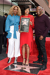 John Singleton and Mary J. Blige attend the ceremony honoring Taraji P. Henson with a star on The Hollywood Walk Of Fame on January 28, 2019 in Los Angeles, CA, USA. Photo by Lionel Hahn/ABACAPRESS.COM