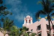 The historic Royal Hawaiian Hotel in Waikiki, Hawaii