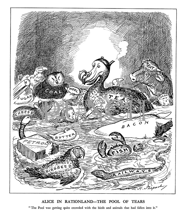 """Alice in Rationland - the Pool of Tears. """"The Pool was getting quite crowded with the buirds and the animals that had fallen into it."""""""
