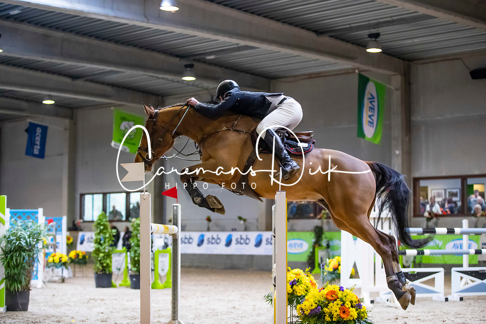 Bossaerts Stef, BEL, F-Magic van de Wilgendreef Z<br /> Klasse Zwaar<br /> Nationaal Indoor Kampioenschap Pony's LRV <br /> Oud Heverlee 2019<br /> © Hippo Foto - Dirk Caremans<br /> 09/03/2019