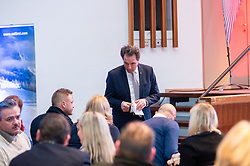 29.01.2019, Stadtsaal, Lienz, AUT, TVBO Wahl 2019, Wahlwiederholung, im Bild Franz Theurl (Obmann TVBO) // during the redial of the TVBO election at the Stadtsaal in Lienz, Austria on 2019/01/29. EXPA Pictures © 2019, PhotoCredit: EXPA/ Johann Groder