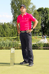 28.06.2015, Golfclub München Eichenried, Muenchen, GER, BMW International Golf Open, Tag 4, im Bild Pablo Larrazabal (ESP) mit dem Pokal // during te finals of BMW International Golf Open at the Golfclub München Eichenried in Muenchen, Germany on 2015/06/28. EXPA Pictures © 2015, PhotoCredit: EXPA/ Eibner-Pressefoto/ Kolbert<br /> <br /> *****ATTENTION - OUT of GER*****