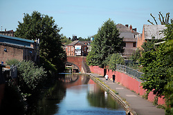 UK ENGLAND LEICESTER 30JUN15 - Industrial cityscape near the Grand Union canal and the river Soar at Leicester city.<br /> <br /> jre/Photo by Jiri Rezac / WWF UK<br /> <br /> © Jiri Rezac 2015