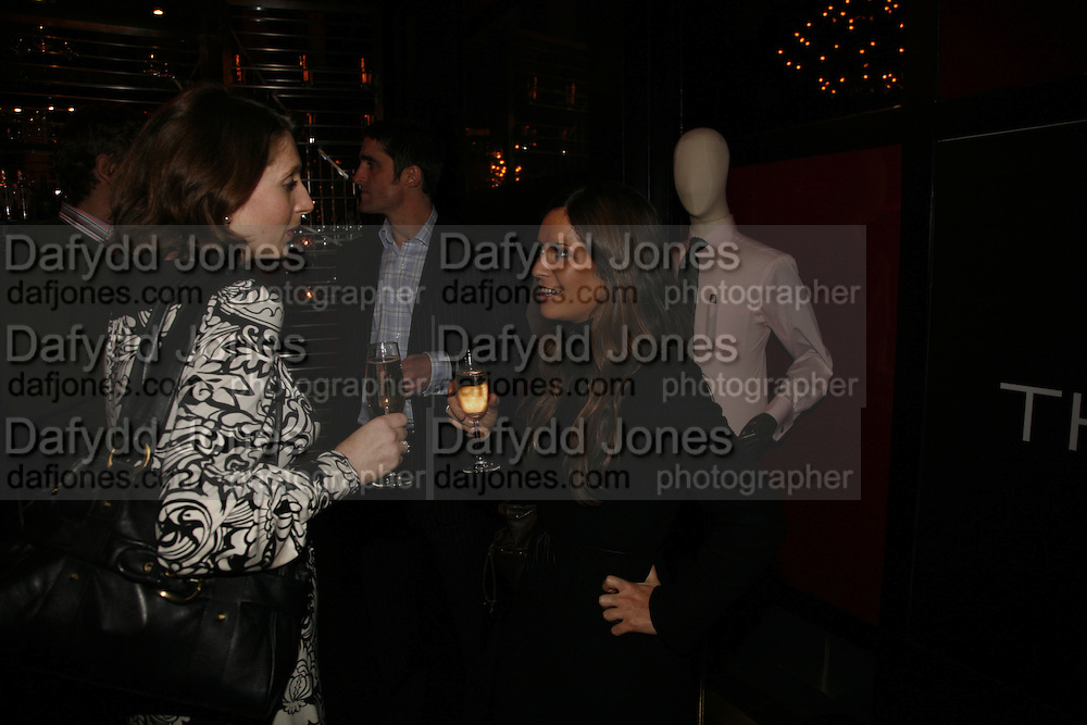 Katherine Rainbird and Lizzie Cantor, Drinks party to launch a new Thomas Pink shirt called The Mogul which has a pocket which houses one's cigar. Hostyed by the Spectator and Thomas Pink. Floridita. Wardour St. London. 1 November 2006. -DO NOT ARCHIVE-© Copyright Photograph by Dafydd Jones 66 Stockwell Park Rd. London SW9 0DA Tel 020 7733 0108 www.dafjones.com