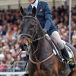Nicky Hill Badminton Horse Trials Gloucester England UK May 2019. Nicky Hill equestrian eventing representing Great Britain riding MGH Bingo Boy in the Badminton horse trials 2019 Badminton Horse trials 2019 Winner Piggy French wins the title