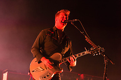 © Licensed to London News Pictures. 29/05/2014. Barcelona, Spain.   Queens of the Stone Age performing live at Primavera Sound Festival .   Queens of the Stone Age is an American rock band consisting of  founder Josh Homme (lead vocals, guitar, piano), Troy Van Leeuwen (guitar, lap steel, keyboard, percussion, backing vocals), Michael Shuman (bass guitar, keyboard, backing vocals), Dean Fertita (keyboards, guitar, percussion, backing vocals), and recent addition Jon Theodore (drums, percussion).   Primavera Sound, or simply Primavera, is an annual music festival that takes place in Barcelona, Spain in late May/June within the Parc del Fòrum leisure site. Photo credit : Richard Isaac/LNP