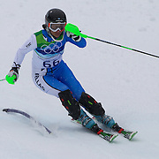 Winter Olympics, Vancouver, 2010.Sophia Ralli, Greece, in action in the Alpine Skiing Ladies Slalom at Whistler Creekside, Whistler, during the Vancouver Winter Olympics. 24th February 2010. Photo Tim Clayton