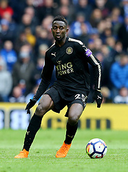 "Leicester City's Wilfred Ndidi during the Premier League match at the AMEX Stadium, Brighton. PRESS ASSOCIATION Photo. Picture date: Saturday March 31, 2018. See PA story SOCCER Brighton. Photo credit should read: Gareth Fuller/PA Wire. RESTRICTIONS: EDITORIAL USE ONLY No use with unauthorised audio, video, data, fixture lists, club/league logos or ""live"" services. Online in-match use limited to 75 images, no video emulation. No use in betting, games or single club/league/player publications."