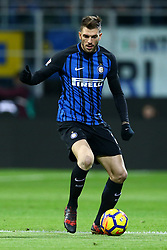 January 21, 2018 - Milan, Italy - Davide Santon of Internazionale  during the Serie A match between FC Internazionale and AS Roma at Stadio Giuseppe Meazza on January 21, 2018 in Milan, Italy. (Credit Image: © Matteo Ciambelli/NurPhoto via ZUMA Press)