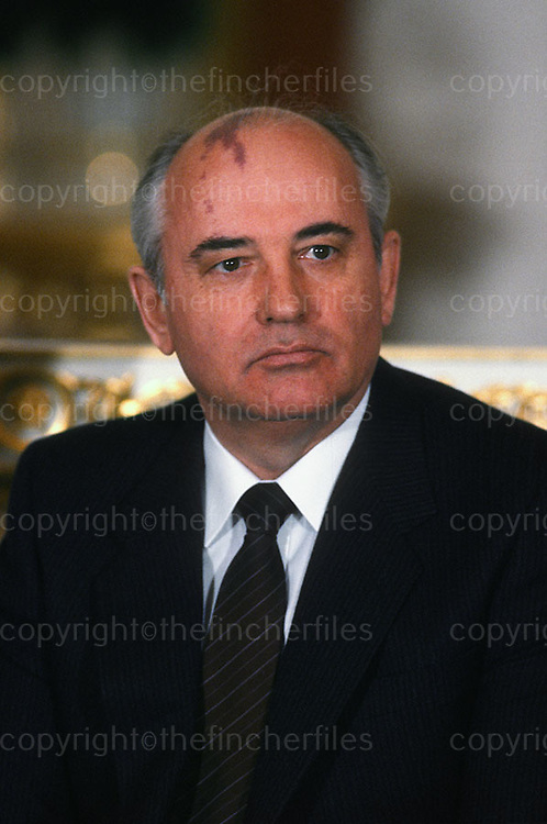 President Michail Gorbachev of Russia seen in Moscow in March 1987.