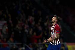 November 6, 2018 - Madrid, Spain - Saul Niguez of Atletico Madrid celebrates after scoring his sides first goal during the Group A match of the UEFA Champions League between AtleticoLucien Favre of Borussia Dortmund Madrid and Borussia Dortmund at Wanda Metropolitano Stadium, Madrid on November 07 of 2018. (Credit Image: © Jose Breton/NurPhoto via ZUMA Press)