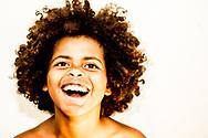 Boy laughing.