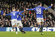 GOAL 1-2 Oldham Athletic forward Callum Lang (19) scores Oldham's winner and celebrates during The FA Cup 3rd round match between Fulham and Oldham Athletic at Craven Cottage, London, England on 6 January 2019.