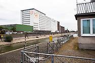 Europa, Deutschland, Koeln, die Ellmuehle oder Aurora Muehle im Deutzer Hafen.<br /> <br /> Europe, Germany, Cologne, the Ellmill or Aurora mill at the Rhine harbor in the district Deutz.