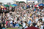 29/07/2014  Crowd Scene from  the Tuesday evening meeting of the Galway Summer racing Festival. Photo: Andrew Downes