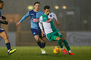 Plymouth Argyle midfielder Ruben Lameiras (11) on the ball during the EFL Sky Bet League 1 match between Wycombe Wanderers and Plymouth Argyle at Adams Park, High Wycombe, England on 26 January 2019.