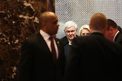 November 21, 2016 - New York, New York, United States of America - Former Speaker of the United States House of Representatives Newt Gingrich (Republican of Georgia) arrives for a meeting with US President-elect Donald Trump, in the Trump Tower, November 21, 2016, in New York, New York..Credit: Aude Guerrucci / Pool via CNP (Credit Image: © Aude Guerrucci/CNP via ZUMA Wire)