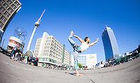 Yureimi Rodriguez at Alexanderplatz, Berlin