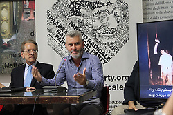 July 27, 2017 - Rome, Italy - Ambassador Giulio Terzi and  Mariano Rabino during a press conference held at the Radical Party headquarters in Rome on 27 July 2017 asked the Italian Government to condemn the massacre of political prisoners by the Iranian regime in the summer of 1988. Ambassador Giulio Terzi,  former Minister of Foreign Affairs, Antonio Stango, President of the Italian League of Human Rights and members of the Italian parliamentarians joined the discussion panel on the situation of Human Rights in Iran. (Credit Image: © Siavosh Hosseini/NurPhoto via ZUMA Press)