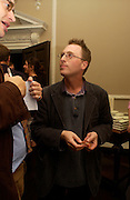 Jon Ronson, Book launch of Truth or Dare,  edited by Justine Picardie. House of St. Barnabus. Sales of the book at the launch went towards Breast  Cancer  Care. Greek St. London. 30 September 2004. SUPPLIED FOR ONE-TIME USE ONLY-DO NOT ARCHIVE. © Copyright Photograph by Dafydd Jones 66 Stockwell Park Rd. London SW9 0DA Tel 020 7733 0108 www.dafjones.com