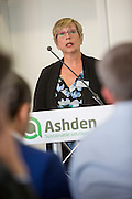 Christine Eibs Singer from Sustainable Energy for All speaking at the 2015 Ashden International Conference. The Business of Energy: Enterprising Solutions to the Energy Access Challenge. Kings Cross, London, UK. All image use must be credited. © Andrew Aitchison / Ashden