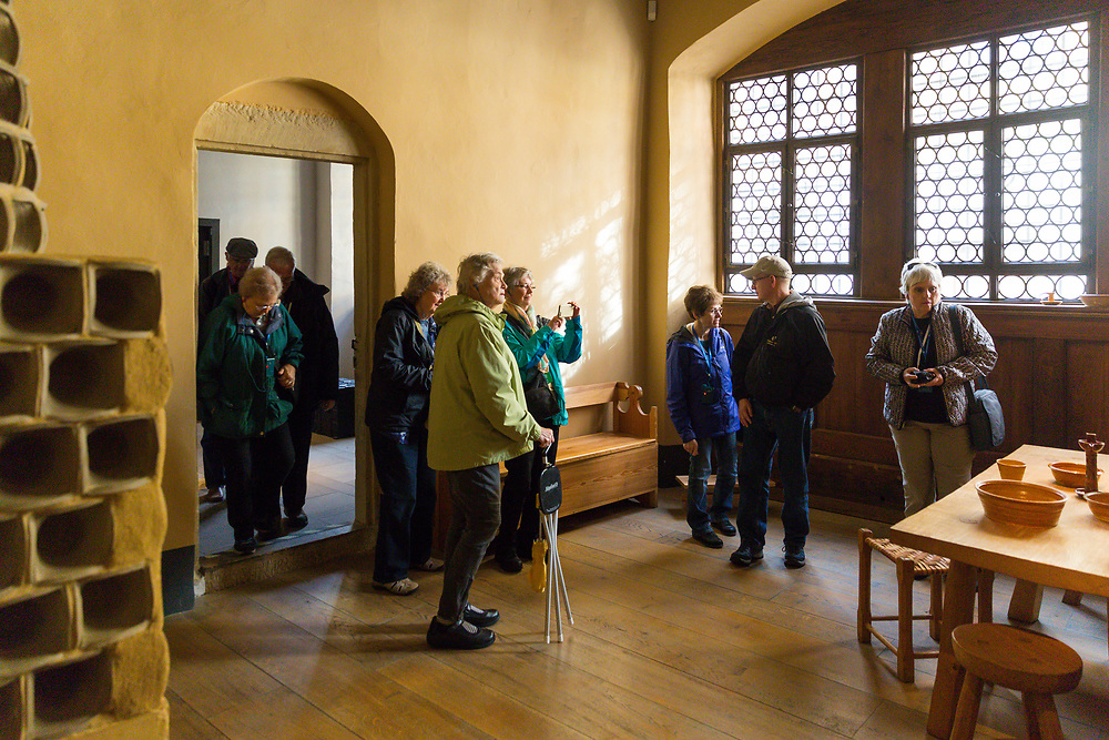 Tour members walk through the birth place of Martin Luther in Eisleben, Germany Friday, October 27th.