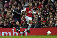 Photo: Olly Greenwood.<br />Arsenal v Bolton Wanderers. The FA Cup. 28/01/2007. Arsenal's Thierry Henry goes past bolton's Kevin Nolan