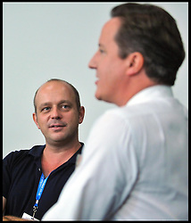 The Prime Minister David Cameron with Steve Hilton after delivering his speech to the Conservative Party Conference in Manchester, Wednesday October 5, 2011. Photo By Andrew Parsons/i-images