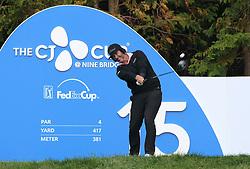 Oct 19, 2018-Jeju, South Korea-SCOTT PIERCY of USA action on the 15th tee during the PGA Golf CJ Cup Nine Bridges Round 2 at Nine Bridges Golf Club in Jeju, South Korea.