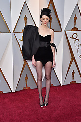 Recording artist St. Vincent walking the red carpet as arriving for the 90th annual Academy Awards (Oscars) held at the Dolby Theatre in Los Angeles, CA, USA, on March 4, 2018. Photo by Lionel Hahn/ABACAPRESS.COM