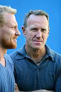 Scottish actor Kevin McKidd (left) and director Richard Jobson, pictured before a press conference to discuss their latest film entitled '16 Years of Alcohol' which is showing as part of the Edinburgh International Film Festival...